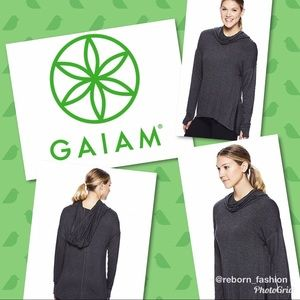 NWT GAIAM Pullover Cowl Neck Hoodie Size S